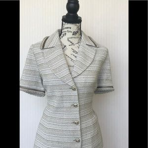 St. John short sleeved blazer size 10